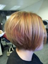 Soft honey, apricot and a splash of red in this easy-to-wear style, by Sue