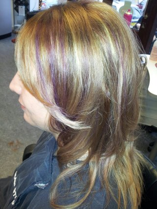 Shades of violet, honey and cream, by Sacha