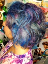 Blue and purple